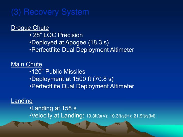 (3) Recovery System
