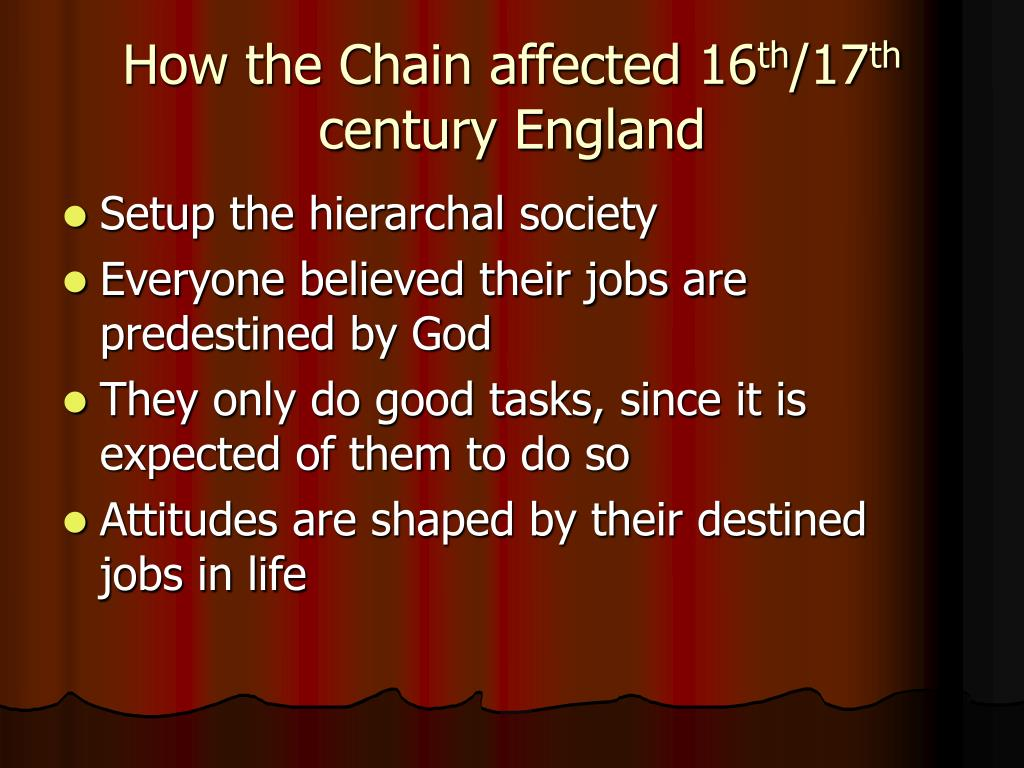 How the Chain affected 16