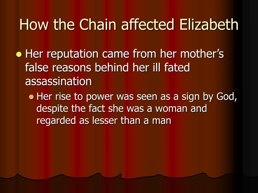 How the Chain affected Elizabeth
