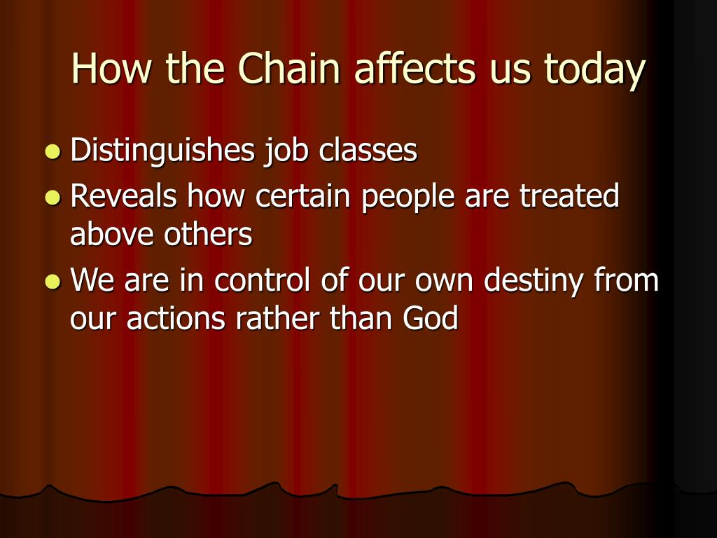 How the Chain affects us today