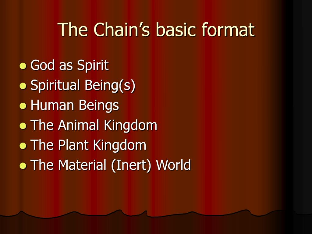 The Chain's basic format