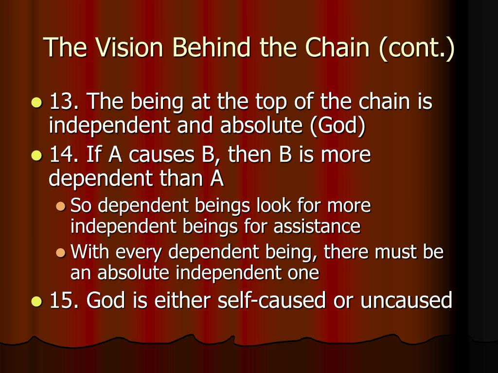 The Vision Behind the Chain (cont.)