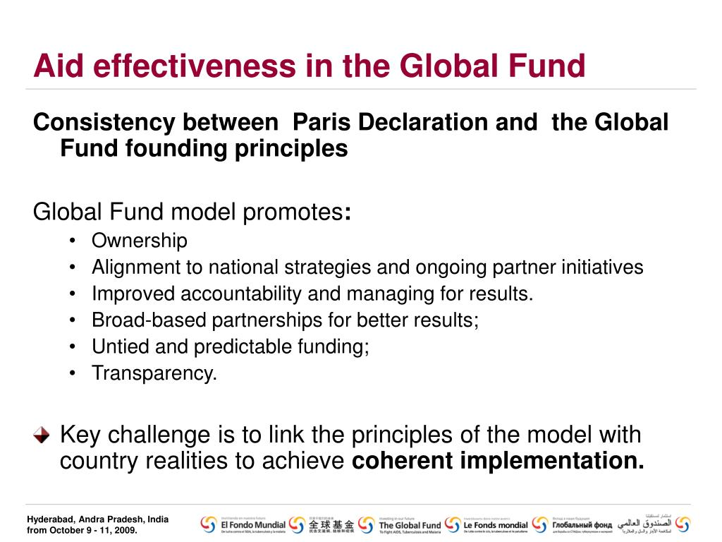Aid effectiveness in the Global Fund