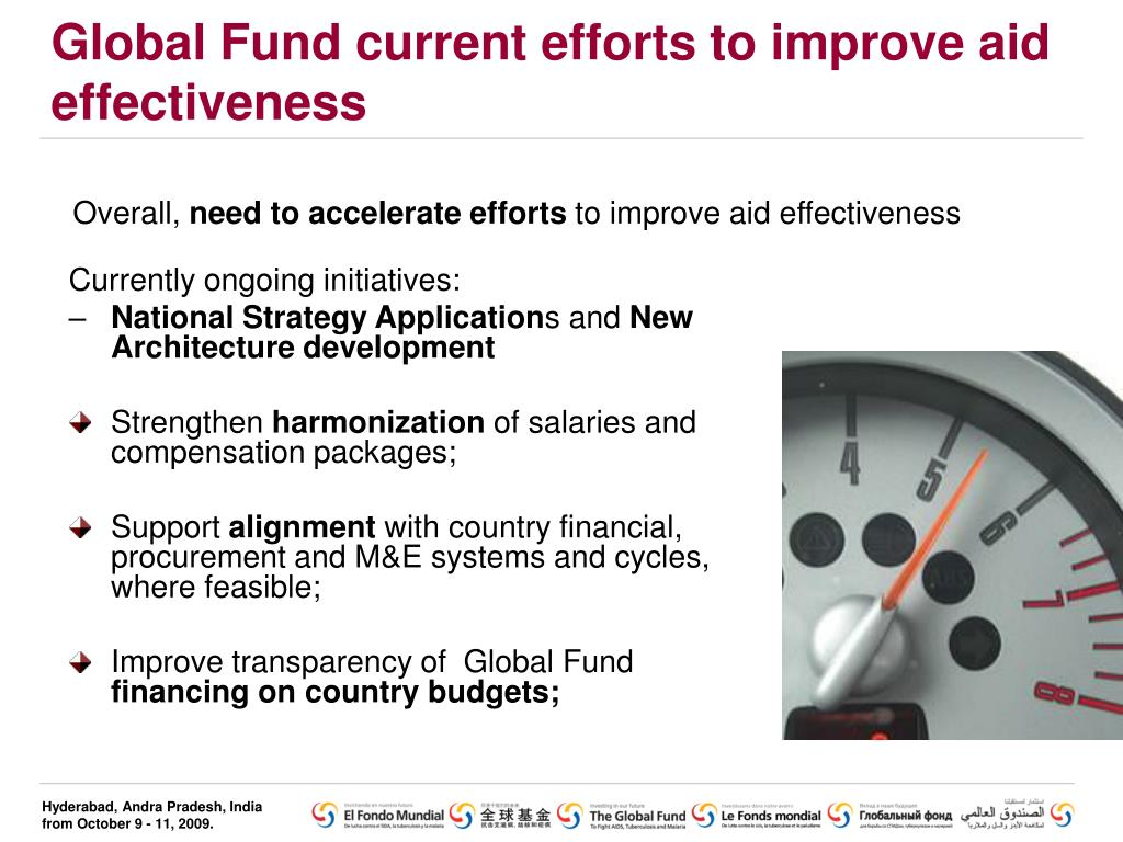 Global Fund current efforts to improve aid effectiveness