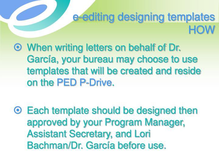 e-editing designing templates