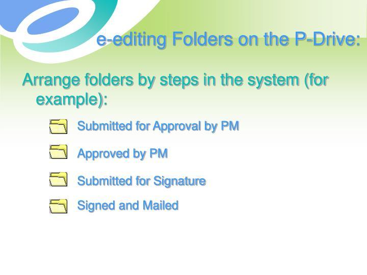 e-editing Folders on the P-Drive: