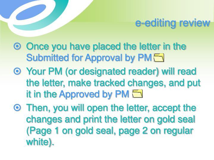 e-editing review