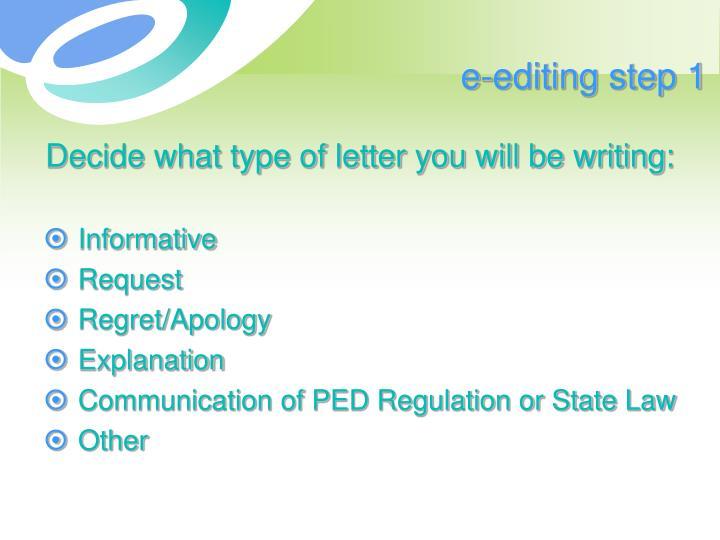 e-editing step 1