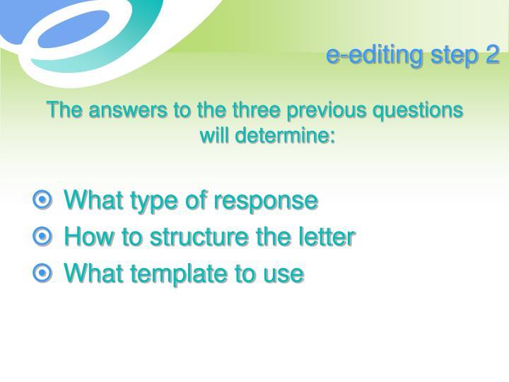 e-editing step 2