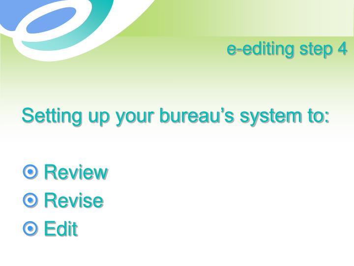 e-editing step 4
