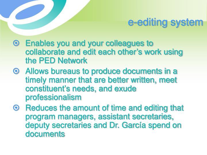 e-editing system