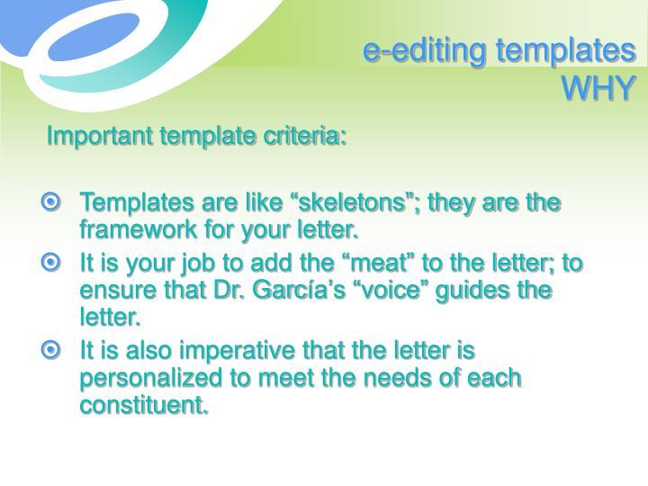 e-editing templates