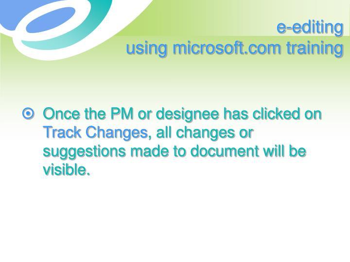 e-editing