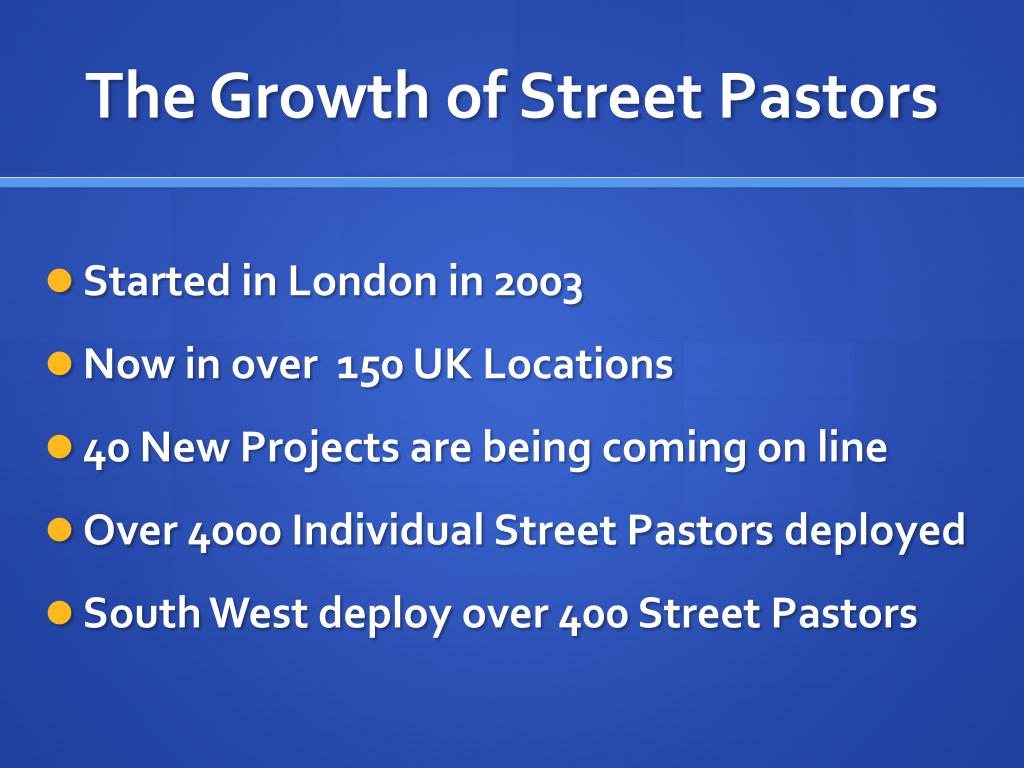 The Growth of Street Pastors