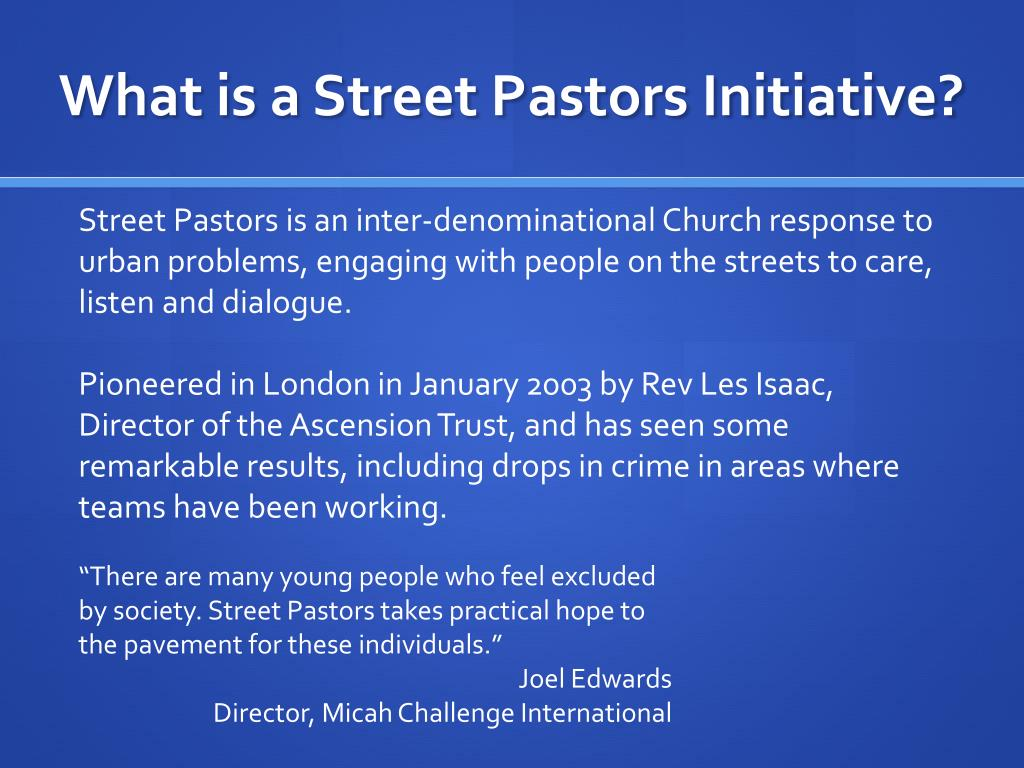 What is a Street Pastors Initiative?