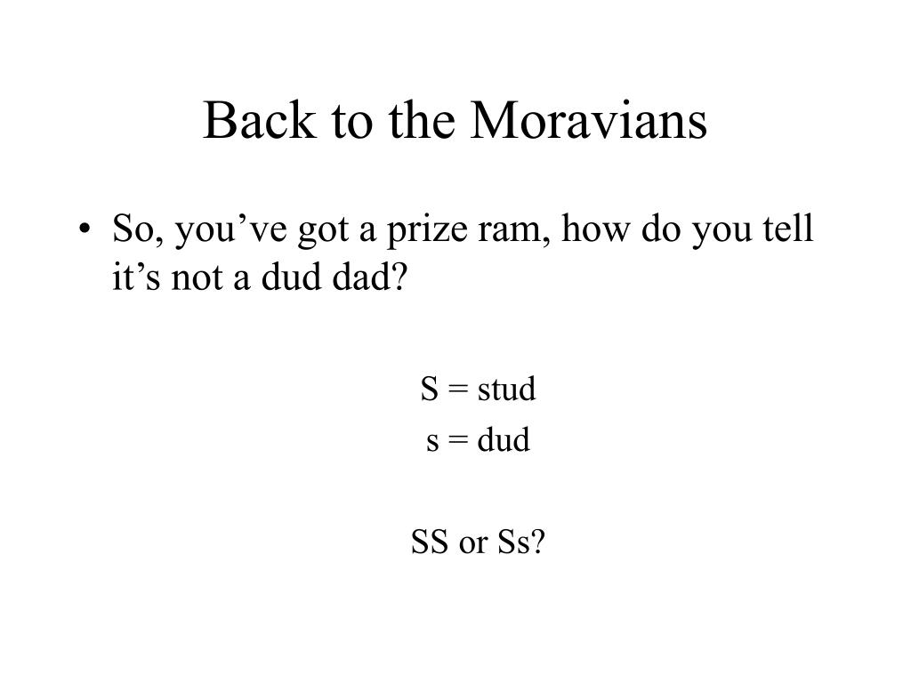 Back to the Moravians