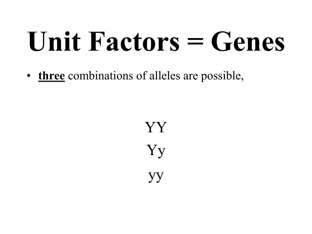 Unit Factors = Genes