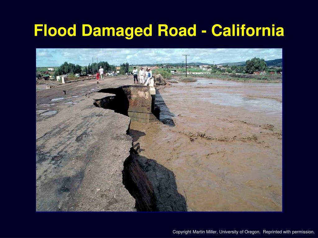Flood Damaged Road - California