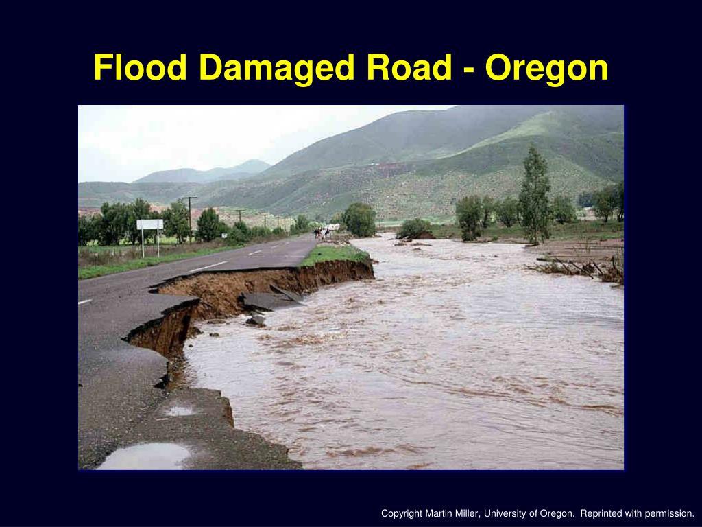 Flood Damaged Road - Oregon
