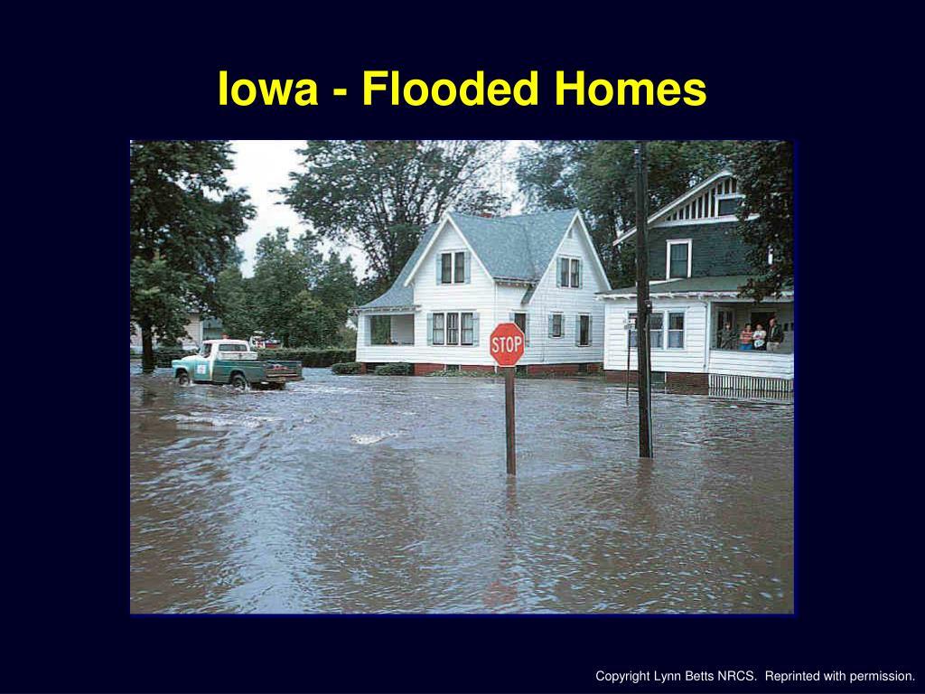 Iowa - Flooded Homes