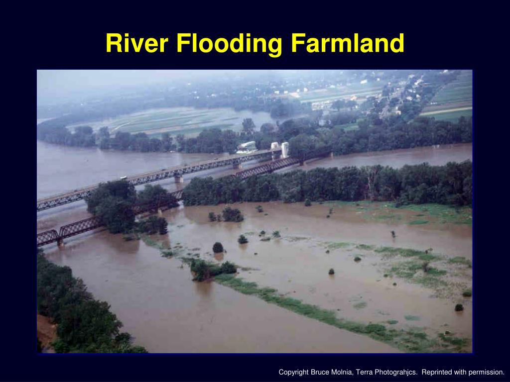 River Flooding Farmland