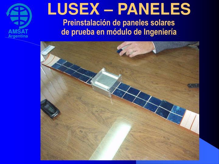 LUSEX – PANELES