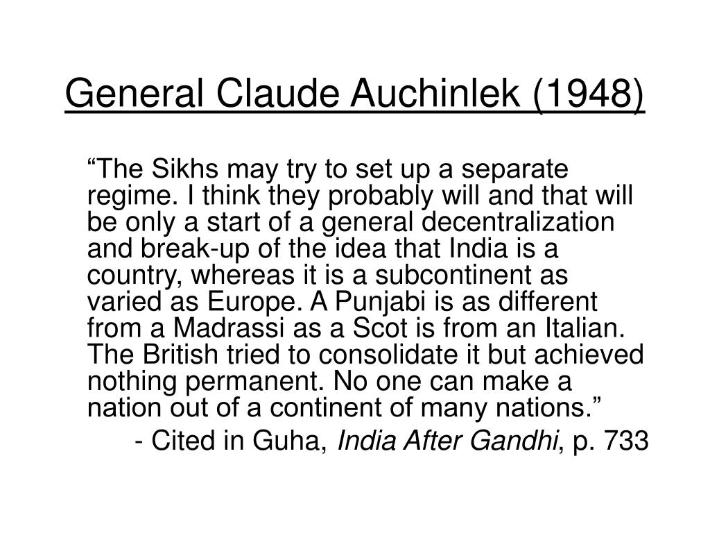 General Claude Auchinlek (1948)