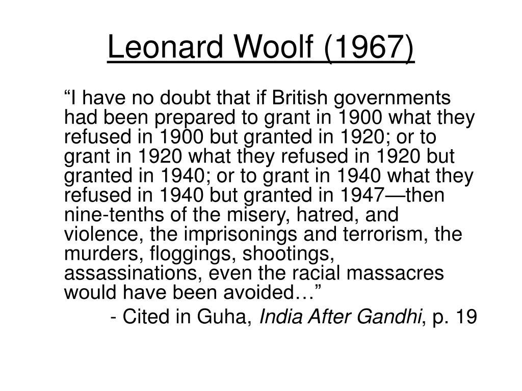 Leonard Woolf (1967)