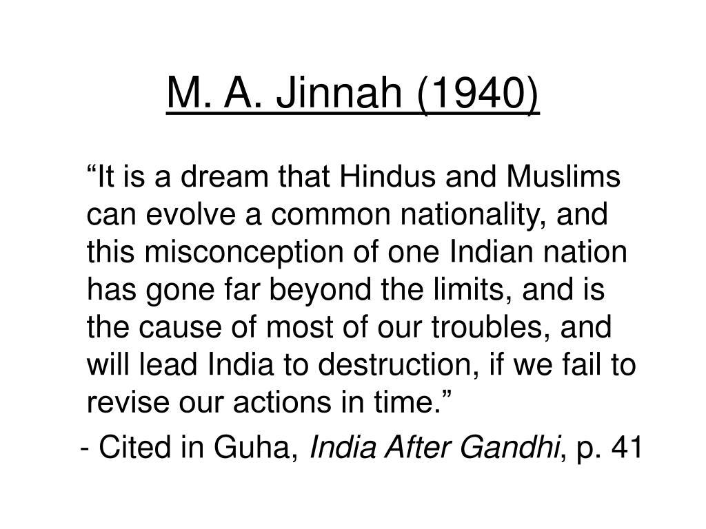 M. A. Jinnah (1940)