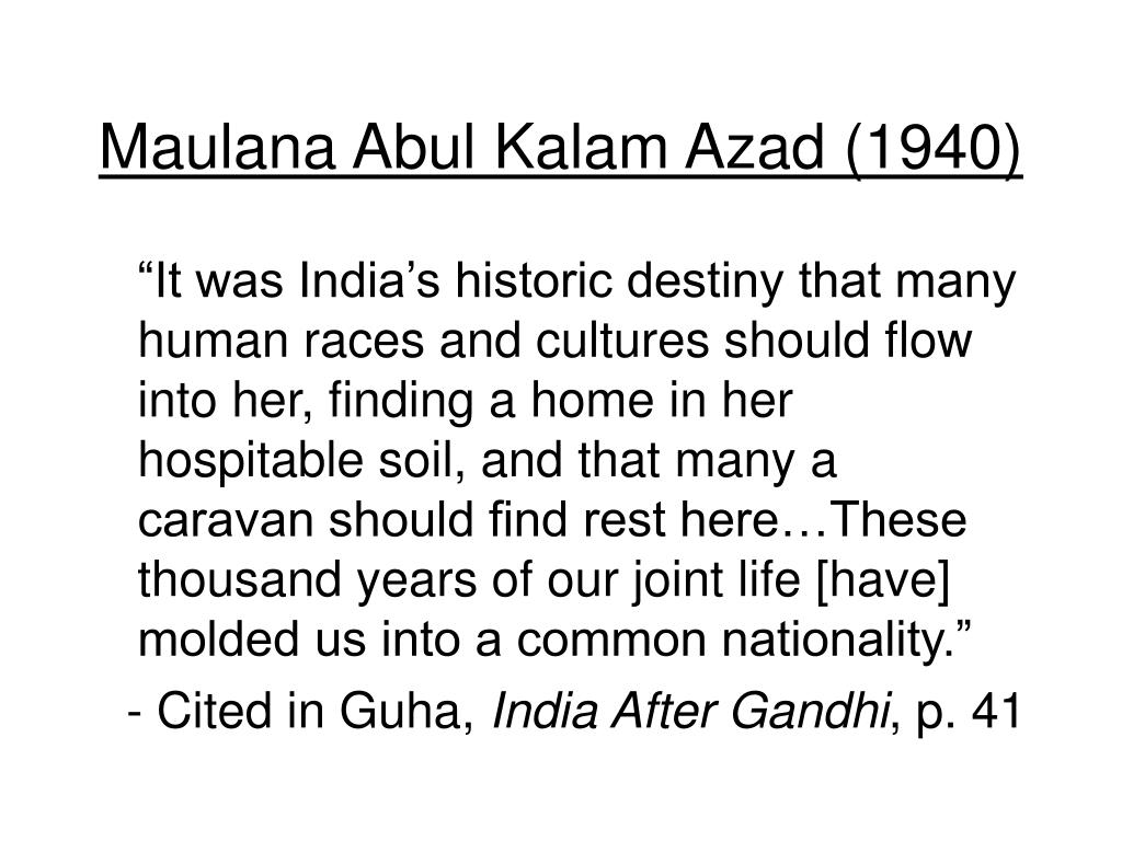 Maulana Abul Kalam Azad (1940)