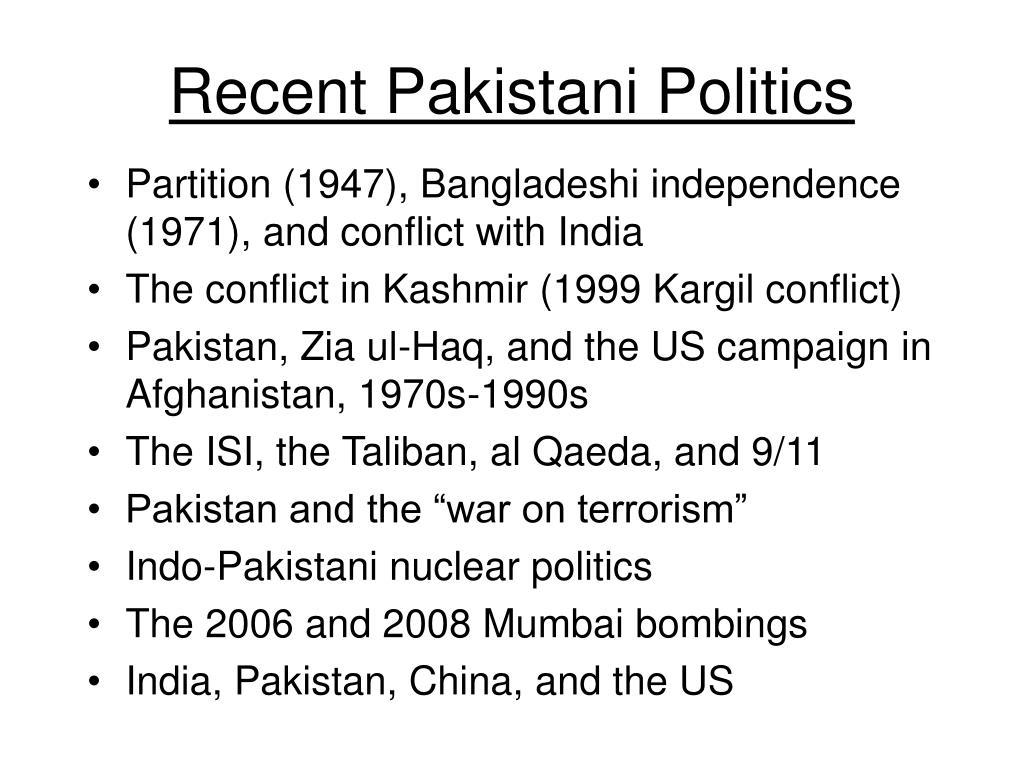 Recent Pakistani Politics