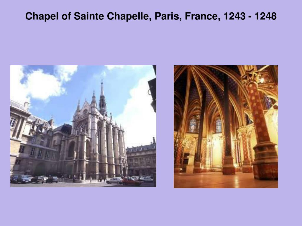 Chapel of Sainte Chapelle, Paris, France, 1243 - 1248