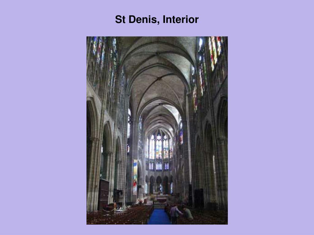 St Denis, Interior