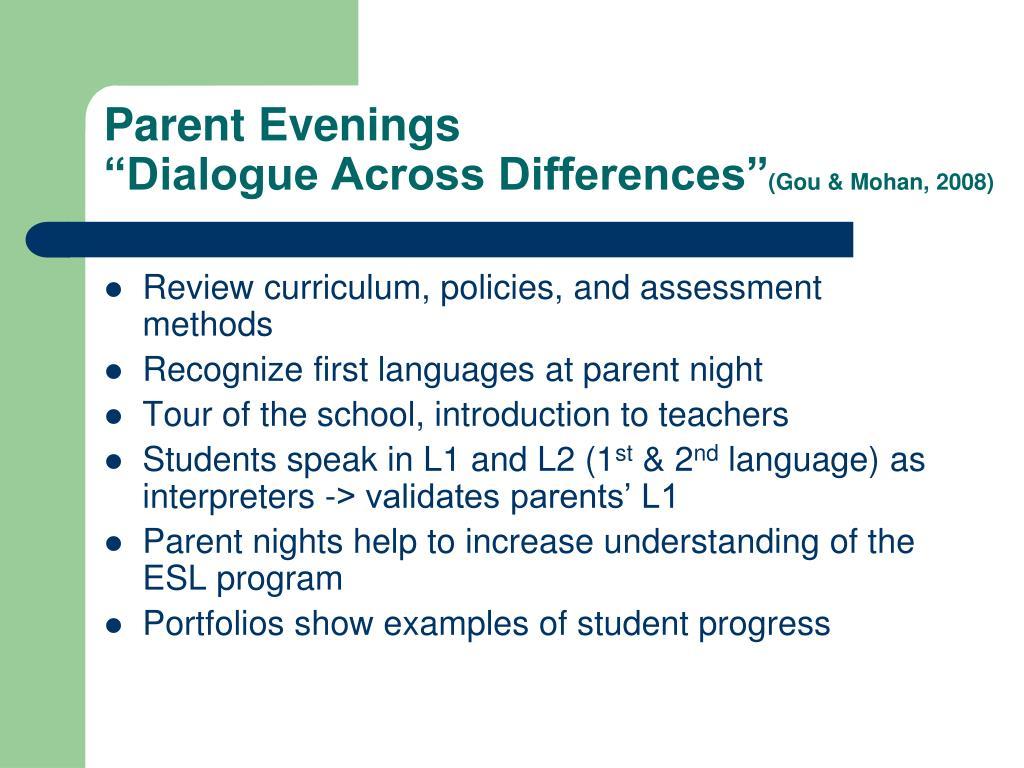 Parent Evenings