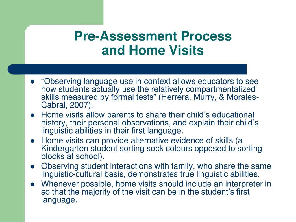 Pre-Assessment Process