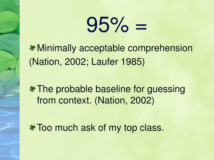 95% =