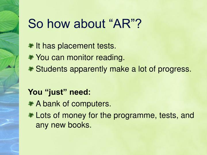 "So how about ""AR""?"