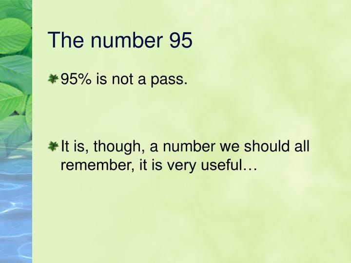 The number 95