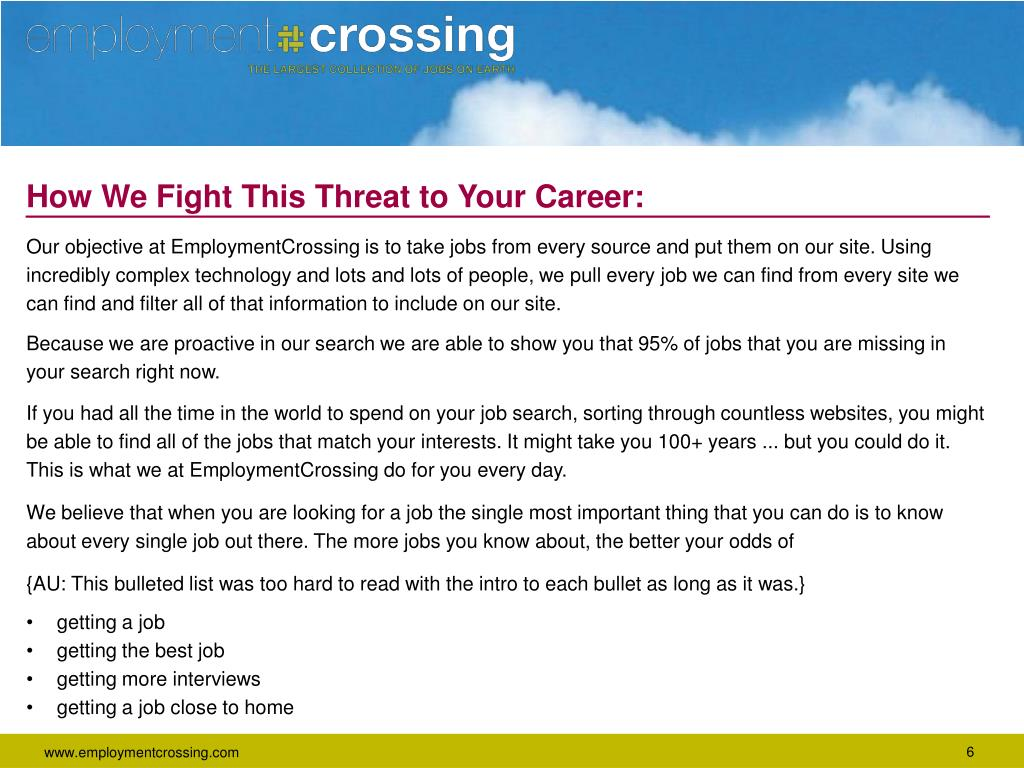 How We Fight This Threat to Your Career: