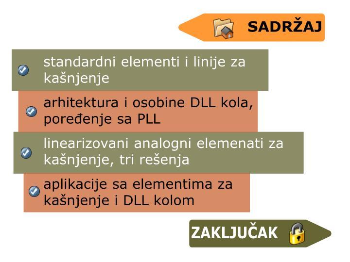 standardni elementi i linije za kanjenje