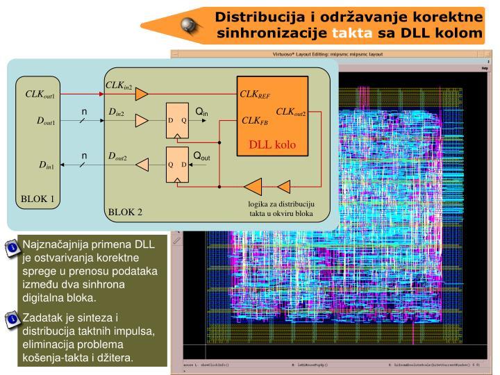 Najznaajnija primena DLL je ostvarivanja korektne sprege u prenosu podataka izmeu dva sinhrona digitalna bloka.