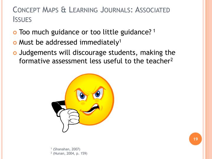 Concept Maps & Learning Journals: Associated Issues
