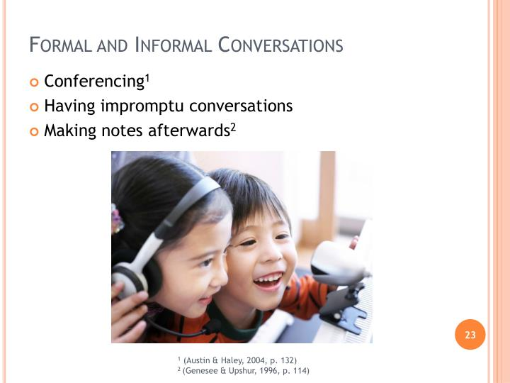 Formal and Informal Conversations