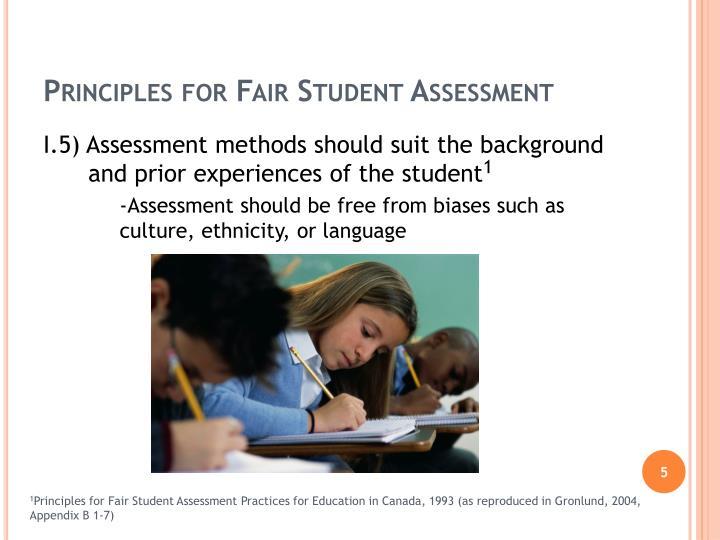 Principles for Fair Student Assessment