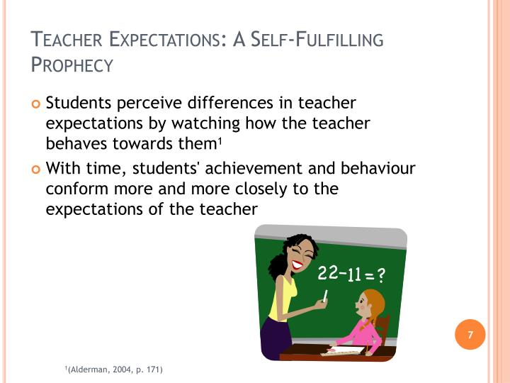 Teacher Expectations: A Self-Fulfilling Prophecy