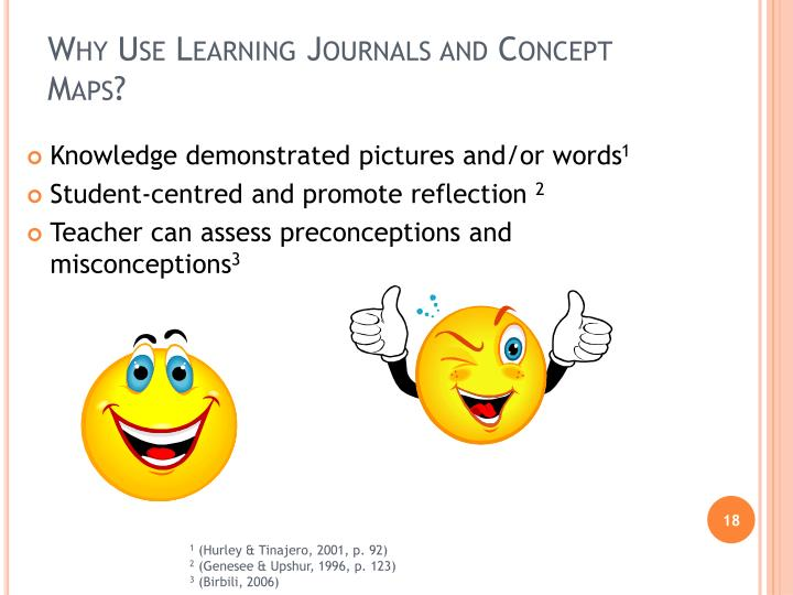 Why Use Learning Journals and Concept Maps?