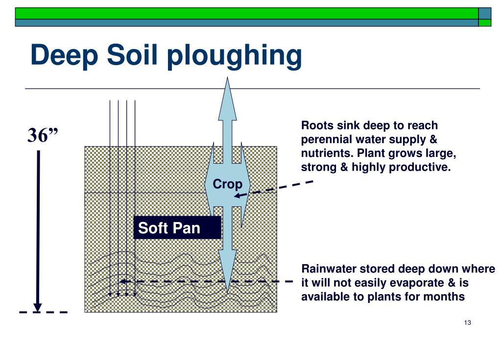 Deep Soil ploughing
