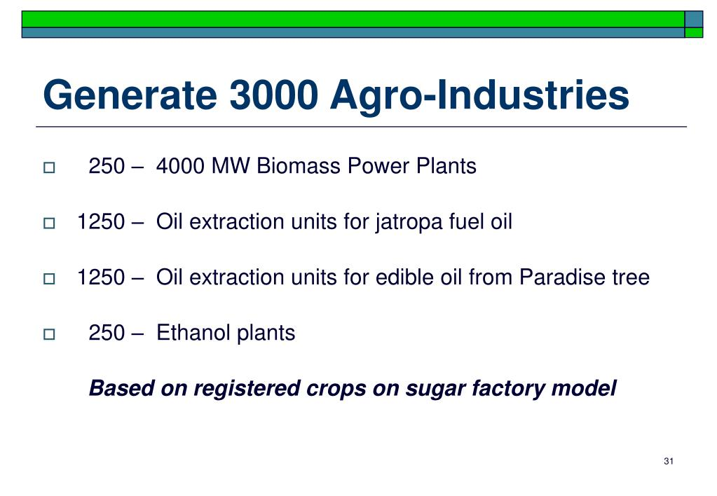 Generate 3000 Agro-Industries