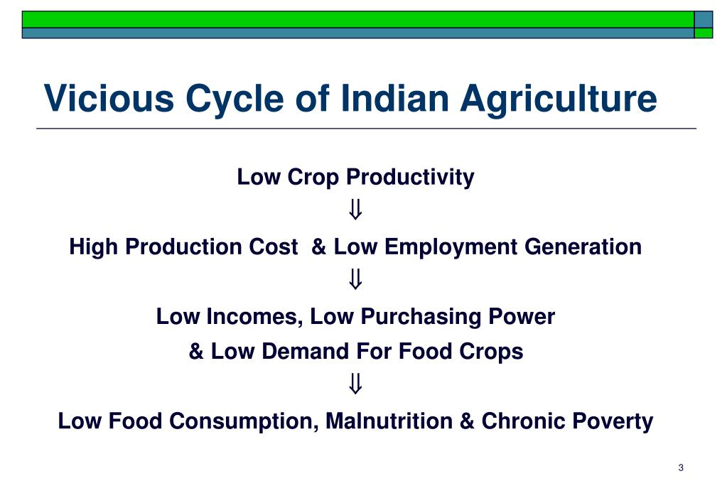 Vicious Cycle of Indian Agriculture