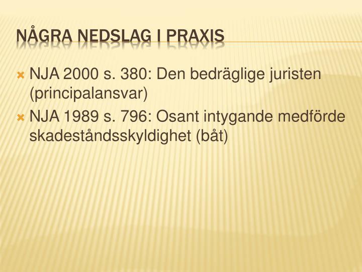 NJA 2000 s. 380: Den bedräglige juristen (principalansvar)